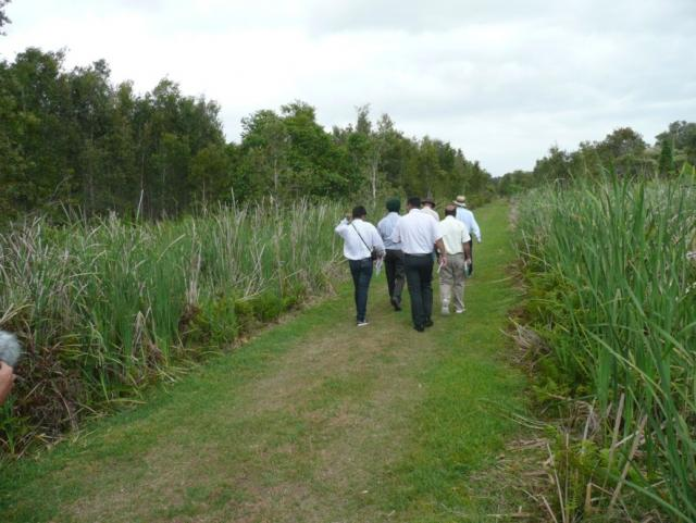 Indian scientists visit Byron Bay wetlands