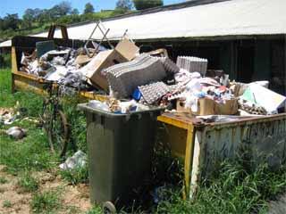 Skip bin of waste