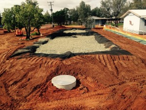 Projects - Orana Haven, cells full of gravel